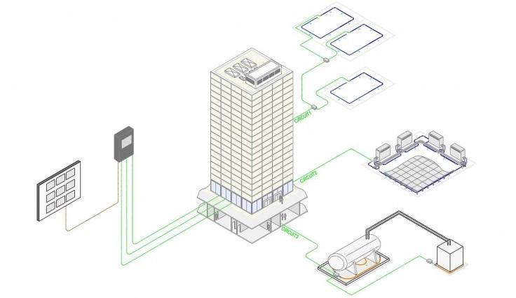 centrale FG-NET détecteur de fuite d'eau, d'acide et d'hydrocarbure