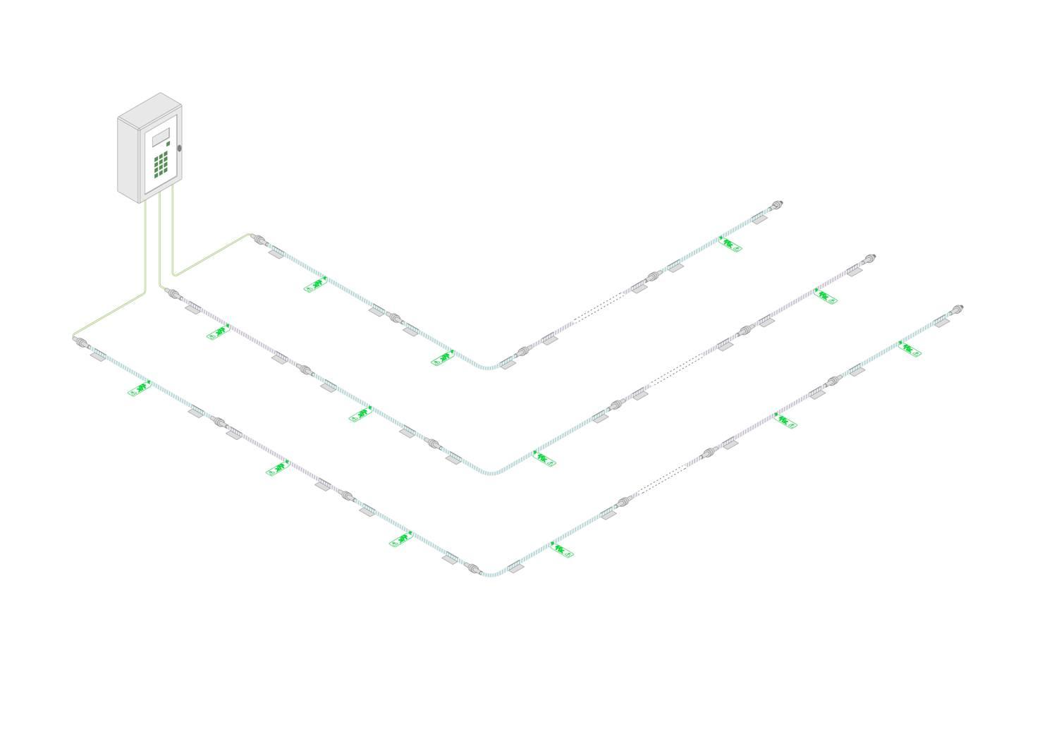 FG-SYS digital unit - water leak detection - acid leak detection - fuel leak detection