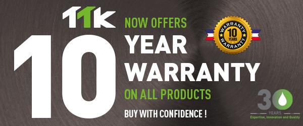 TTK offre une garantie de 10 ans sur tous les produits