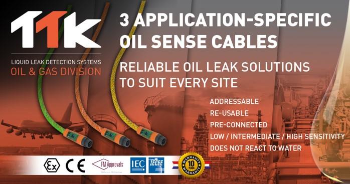TTK propose 3 câbles détecteurs d'hydrocarbures spécifiques à l'application