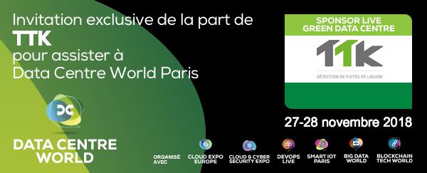 Visitez TTK au Data Centre World Paris – 27-28 novembre Porte de Versailles !