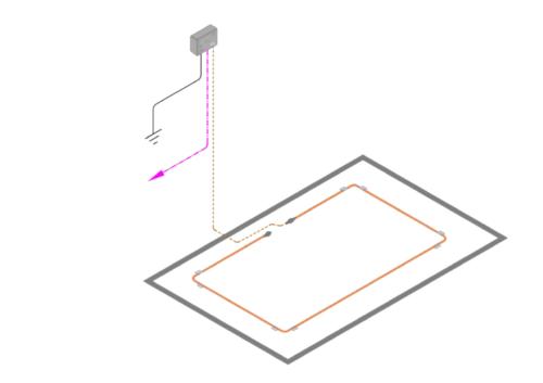 diagramme - FG-A-OD avec une longueur de câble détecteur d'hydrocarbure FG-OD
