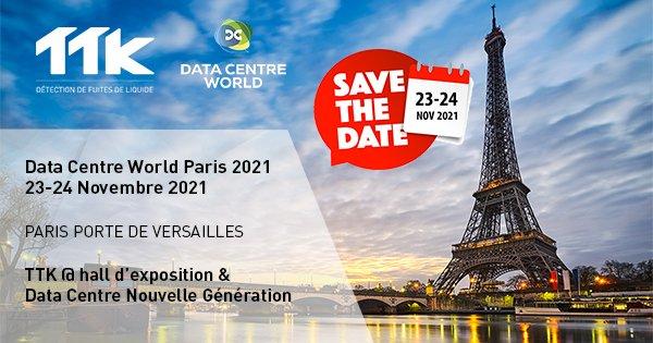 SAVE THE DATE! 23-24 nov. 2021 - Data Center World Paris