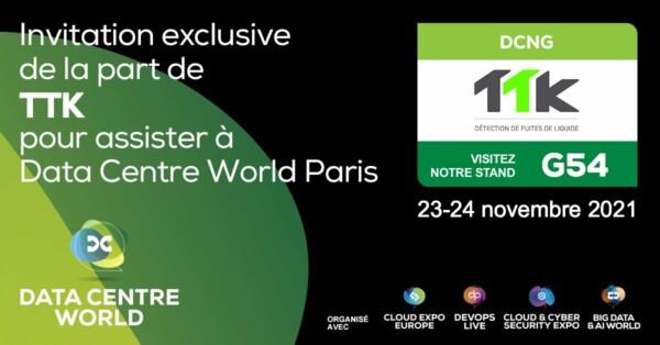 TTK vous invite à assister au salon Data Centre World Paris